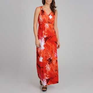 Lennie for Nina Leonard Womens Pink Floral Maxi Dress