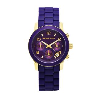 Michael Kors Womens Classic Purple Silicone Strap Chronograph Watch