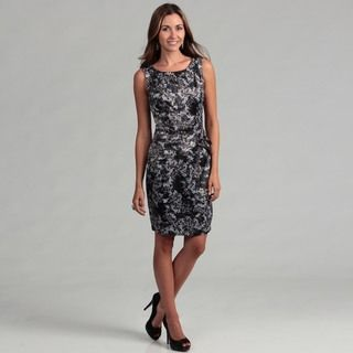 London Times Womens Floral Shutter Pleated Sheath Dress FINAL SALE