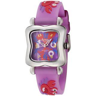Activa Juniors Purple Crab Design Rubber Watch