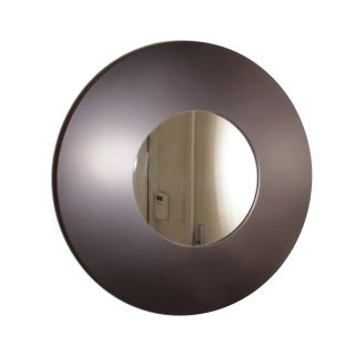 Contemporary Wooden Wide framed Round Wall Mirror Today $34.99