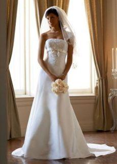 Davids Bridal Collection Wedding Dress: Satin Trumpet