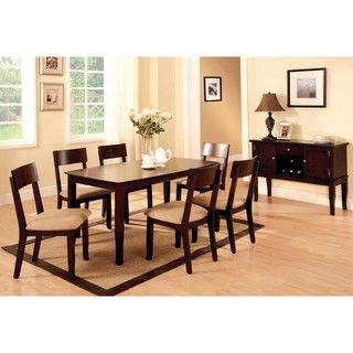 Portsmouth Dark Walnut 2 piece Dining Table Set