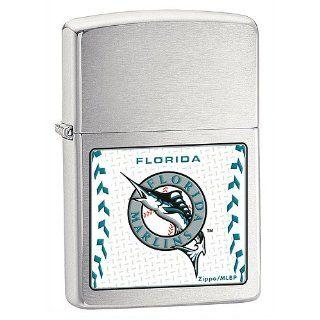 Zippo Florida Marlins Brushed Chrome Lighter Sports