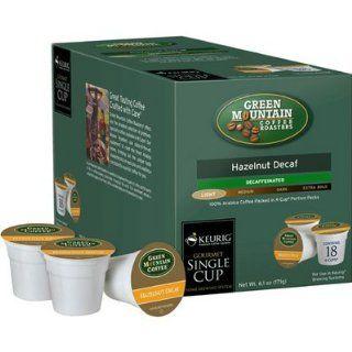 com Green Mountain Hazelnut DECAF Coffee 108 K Cups