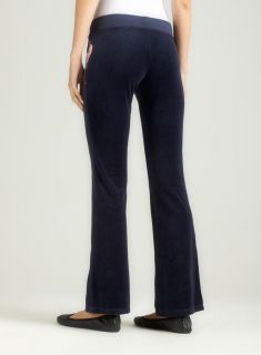 Juicy Couture Skinny Flare Velour Pant W/Bow