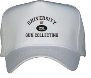 UNIVERSITY OF XXL GUN COLLECTING White Hat / Baseball Cap