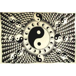 Tapestry: White and Black Yin Yang 72 x 108 Everything Else