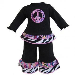 AnnLoren Paisley Peace American Girls Doll Outfit
