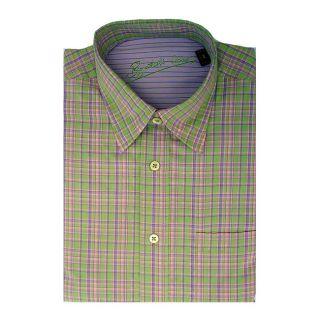 Bugatchi Uomo Mens Long sleeve Plaid Button front Shirt
