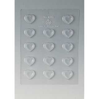 Paderno Fluted Heart 1.125 inch Chocolate Mold