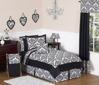Sweet JoJo Designs Isabella Black 4 Piece Twin Bedding Set