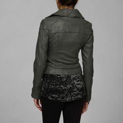 Steve Madden Asymmetrical Leather Moto Jacket