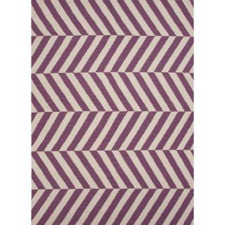 Handmade Flat Weave Mold Pink/ Purple Wool Runner (26 x 8) Today $