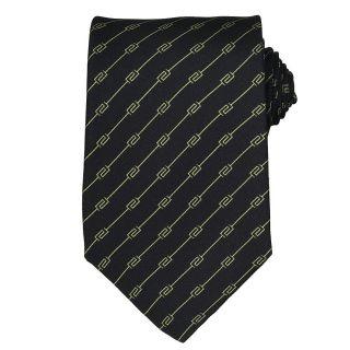 Versace Mens Greek Key Stripe Silk Tie