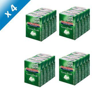 verte   Chewing gum sans sucres   Les 20 étuis de 10 dragées, 72,5g