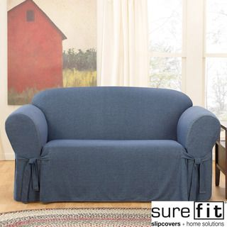 Peachy Sure Fit Lexington Loveseat Slipcover Blue Ncnpc Chair Design For Home Ncnpcorg
