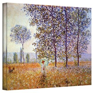 Claude Monet Poplars Wrapped Canvas Art