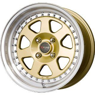 Drag DR 27 Gold Wheel with Machined Lip Finish (16x8.25/5x114.3mm