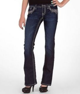 Miss Me Sequin Drip Boot Stretch Jean DK 133 Clothing