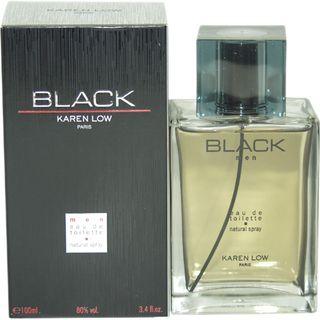Karen Low Black Mens 3.4 ounce Eau de Toilette Spray