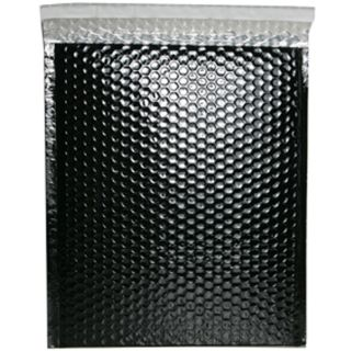 Black Metallic 10x13 Open End Bubble Mailers (Pack of 12)