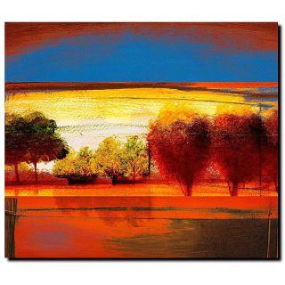 Miguel Paredes Red Dawn II Gallery wrapped Canvas Ar