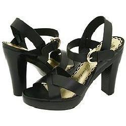 Juicy Couture Fiona Black Vacchetta Sandals   Size