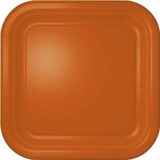 Orange Square Dinner Plates (12 count)