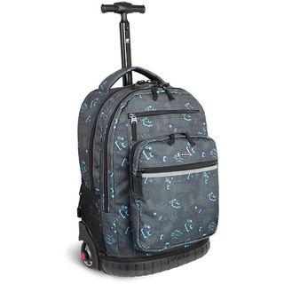 World Sundance Blinker Black 19.5 inch Rolling Backpack with