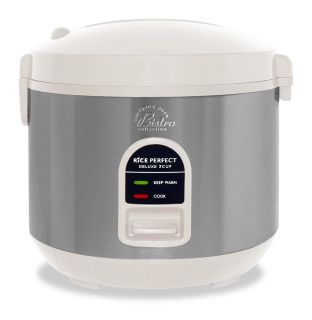 Wolfgang Puck Heavy duty White 7 cup Rice Cooker with WP Recipes