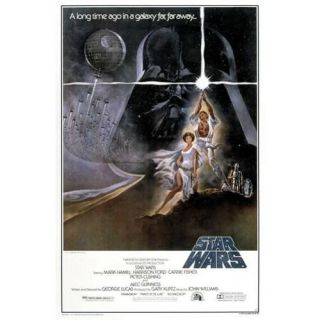 STAR WARS   Poster grand format Affiche Ep 4 Leia & Luke (138