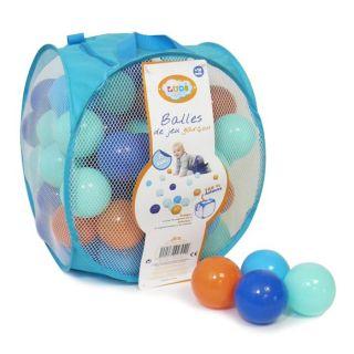 Coloris  Orange / Bleu   Quantité  75 balles   Dès 10 mois   Sac