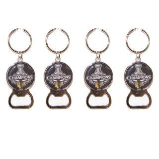Chicago Blackhawks Sanley Cup Champion Key Chains (Se of 4