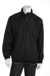 Tasso Elba Black Windbreaker , Size XLarge Clothing