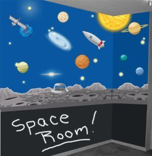 Space Wall Mural Decals Solar System Wall Stickers for