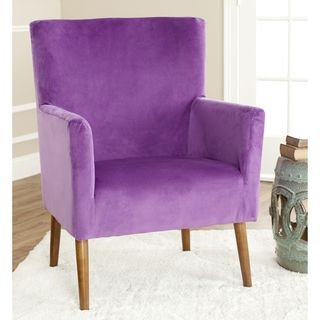 Safavieh Retro Purple Velvet Blend Club Chair