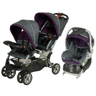 Baby Trend Sit N Stand Double Stroller Travel System in Elixer