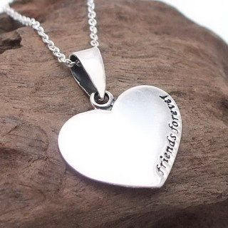 Sweet Friends Forever Sterling Silver Necklace (Thailand