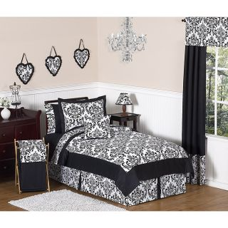 Sweet JoJo Designs Isabella Black 3 Piece Full/ Queen Bedding Set