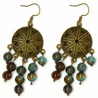 Pretty Little Style Chandelier Agate Stone Earrings Today $14.79