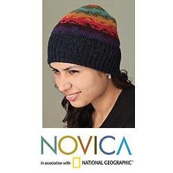 Alpaca Wool Andean Twilight Hat (Peru)