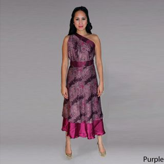 Maroon Two Layer Wrap Dress (Indonesia)