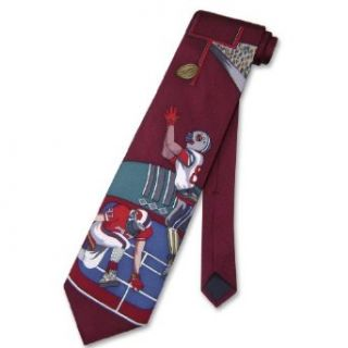 100% SILK NeckTie Football Design Mens Neck Tie #124 2 Clothing