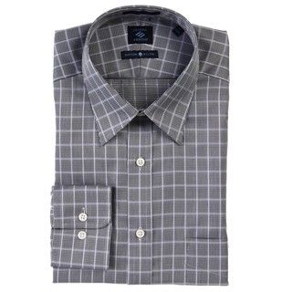 Joseph Abboud Mens Black Check Dress Shirt
