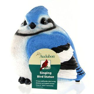 Exhart Audubon Motion Activated Singing Resin Bird Statue