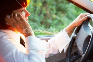 Calling in car  Foto Stock © Dmitriy Shironosov #11627289