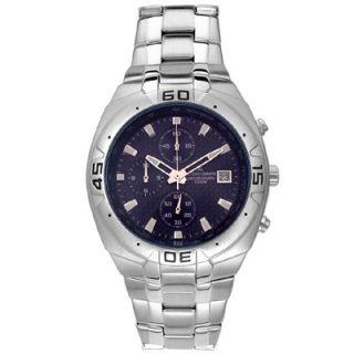Jacques Lemans Mens Blue Dial Titanium Chronograph Watch
