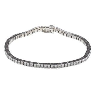 14k White Gold 3 1/4 ct TDW IGL Certified Diamond Tennis Bracelet (H I