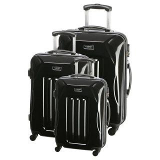 JEAN LOUIS SCHERRER 3 valises trolley NICE Noir   Achat / Vente SET DE